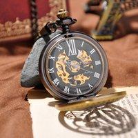 antique gold watch - Fashion Men Luxury Brand Watch Hot Sales New Design Mechanical Hand Wind Pocket Watch Vine Men Watches