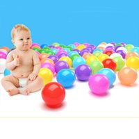 plastic playground - 100pcs pool Bobo Ball Thicken Soft Plastic Pool Marine ball Child Playground Tent swimming BALLS Toy Baby Funny Toys