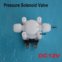 Wholesale DC V Short tube Electric Solenoid Valve Water Air Flow Switch