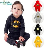 baby lint - Dongkuan trade Batman jumpsuit baby Romper baby coveralls climbing clothes lint prints jumpsuit Romper