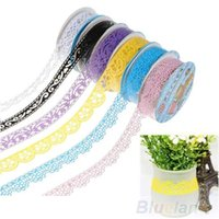 Wholesale 2 Hollow Lace Diary Stationery Plastic Decorative Sticker Adhesive Tape FOR Office School Use R7