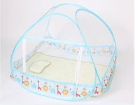 Cheap Kid Mosquito Net For Bed ,Cute Blue and Yellow Color,Cheap Price,Toddler Bed Crib Canopy Netting,Classical Kawaii Pattern Design