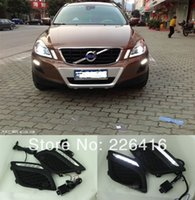 Cheap Free shipping,2pcs Special Car LED DRL Driving Daytime Running Day Fog Lamp Light For 2010-2013 VOLVO XC60, super bright LED DRL