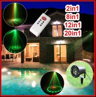 Wholesale 2in1 in1 in1 in1 Waterproof Outdoor Laser Stage Lights Red Green dj lighting laser light show projector with without remote controller