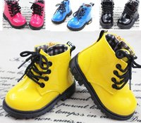 Wholesale Baby Kids Martin Boots Fashion Children Shoes PU leather Boys Girl Snow Boots Spring Fall