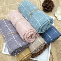 Wholesale Autumn and Winter kids scarfs Comfortable Plaid scarves Infinity cotton and flax Baby scarf and shawl cotton scarfs