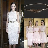 Wholesale 2015 Fashion Metal Best With Delicate Leaves Silver Or Gold Polish Luxury Zuhair Murad Desinger Belt Waist Ornaments For Women In Stock
