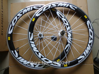 Wholesale New MAVIC COSMIC SL C mm clincher rim Road bicycle carbon bike wheelset with alloy brake surface hubs spokes skewers white