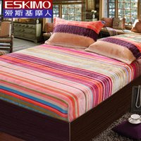 Wholesale ESKIMO Double Fitted Sheet Bed Linen Brand Twin Full Queen King Size Mattress Cover Coral velvet Warm Soft in winter Bedspread