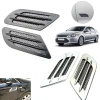 auto air duct - Auto Side Air Vent Fender Decoration Sticker Cover Hole Intake Grille Duct Flow order lt no track