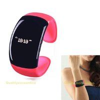 Cheap Wholesale-Fashion Wireless Watch Bluetooth Vibrating Bracelet Mobile Phone Caller ID Display #QbO