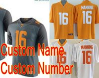 american outlet - Factory Outlet Stitched Logo New Style Custom Tennessee Volunteers Jersey Personalized American College Football Jerseys