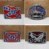 Wholesale New Confederate Southern South Rebel Dixie Flag CSA Army Big Belt Buckle Buckles High Quality
