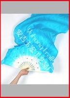 Hand Fans belly dance art - SILK Folk Art Chinese HandeMade Belly Dance Fans costumes fan
