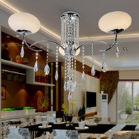 Wholesale Cheap fashion minimalist living room ceiling lamp bedroom lamp modern new round warm crystal restaurant lighting lamps