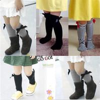 baby thighs - New Baby Leg Warmers Girls Children Thigh High Socks Kids Stripes Bow Socks Stripe Over The Knee Long Sock Stocking Leg Warmer for1 T Girls