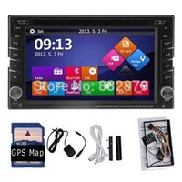 Universal 2 Din din dvd gps pc - 100 New universal Car Radio Double din Car DVD Player GPS Navigation In dash Car PC Stereo Head Unit video Free Map Free Cad