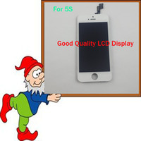 Cheap Hot Sale White LCD Display +Touch Screen Digitizer Full Assembly for iPhone 5S Replacement Repair Parts & Tools Good Quality free shipping!