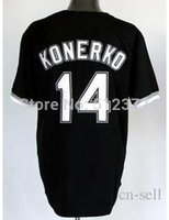 baseball countries - 30 Teams New to all country Paul Konerko black jersey Embroidered Logo all name number stitched