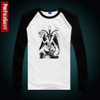 baphomet shirt - satanic goat Baphomet T Shirt Men s printed long sleeved cotton T shirt new shirt brand male casual tops tee
