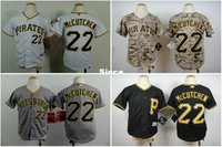 andrew mccutchen shirts - 30 Teams Youth Pittsburgh Pirates Jerseys Andrew McCutchen cool base black white gray camo boys baseball shirt kids size S XL