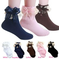ruffle socks - Hot Sales Sweet Baby Kids Princess Girl Ankle Socks Sox Polyester Cotton Vintage Lace Ruffle Frilly PX173