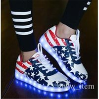 Cheap Luminous Casual Shoes Best LED Light USB Charging