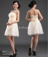 Wholesale 2012 Newest lace up bridesmaid dress short style wedding dress customed size for free delivery HOT