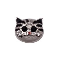 Cheap 30 pcs floating charms CAT for glass memory living lockets