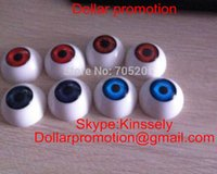 Wholesale 2016 Mix color choose mm red blue light blue dark red color Half Round Acrylic Eyes for Reborn baby BJD OOAK Dolls