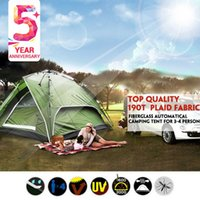 automatical tent - Hot sale high quality brand large fiberglass pole automatical tent outdoor camping hiking fishing for person family tent