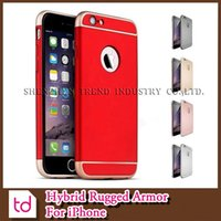 armor oil - Luxury Armor Case Ultra Slim In Shockproof Hard Back Cover With Leather Oil For iPhone S SE S Plus