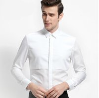 artistic shirts - Artistic white shirts Cultivate one s morality men long sleeve shirt White cotton shirt commerce and office