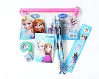 Wholesale Frozen stationery set for Students children stationery Frozen Pencil Cases Frozen Bags Frozen Ruler Frozen Pencilsr