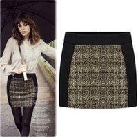 Cheap 2013 Fashion Women Business Suit Pencil Skirts Color Block Short Casual Skirts Club Hip Sexy Sheath Slim Mini Skirt Black Skirt