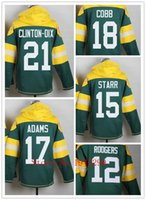bart starr football - Factory Outlet Men s Randall Cobb Aaron Rodgers Ha Ha Clinton Dix Bart Starr Davante Adams Jersey Pullover Hoodies Sweats