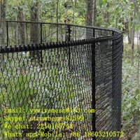 Wholesale Black PVC Coated Chain Link Fence For Securtiy mm Opening mm Wire Diameter After Coated Direct Selling Factory