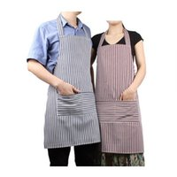 work apron - Couples Striped Apron Cotton Aprons Coffee Stripe Canvas Work Aprons Korea Style Fashion Lovely Delantal Home Kitchen Aprons