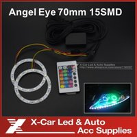 Wholesale Without Battery mm Angel Eyes With Remote Control SMD LED Ring Colorful Daytime Running Lights DRL