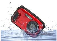 Precio de Camera underwater-El envío libre 16MP impermeabiliza las cámaras a prueba de choques subacuáticas de las cámaras digitales 2.7inch LCD del zoom de la cámara 10X 8X