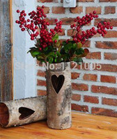 bark vases - OLVY natural birch bark personalized home wedding decorative flower Vase candle holders can be equipped with glass