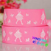 printed grosgrain ribbon - 10yards quot mm dog girl printed grosgrain ribbon