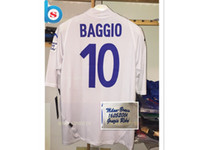 Wholesale Hot Retro Baggio Last Game Jersey Special Edition Retired Lycra Jerseys