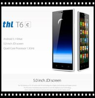 Wholesale 5 inch G WCDMA THL T6C Android Lollipop Quad Core MTK6580 GHz GB GB GPS WiFi MP Camera Dual Sim Card Unlocked Smartphone