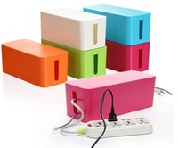 small plastic boxes - ABS plastic mini cable storage box Small electrical wire arranging box multicolor