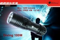 Wholesale Solarstorm DX1 XM L2 U2 LED Scuba Diver Diving Flashlight M Lumens L2 LED Torch Waterproof Lantern Lanterna