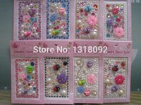 acrylic sheet adhesive - DHL Sheet CM Cell Phone DIY Beauty Acrylic Stone Sheet With Cream Pearls Self Adhesive Colors