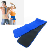 Wholesale Breathable Neoprene Waist Support Protector Belt Waist Brace Strap Band Pain Relief Blue
