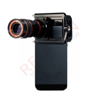 Wholesale Universal telescope X zoom lens mobile phone universal telescope For iPhone for Samsung Clip Eightfold Magnifier with Holder