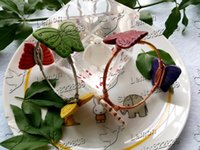 beaded baubles - pc The Monarch Gold or Silver Wire Wrapped Boho Stone Butterfly Beaded Bangle Bauble Bracelet multi colors DY23